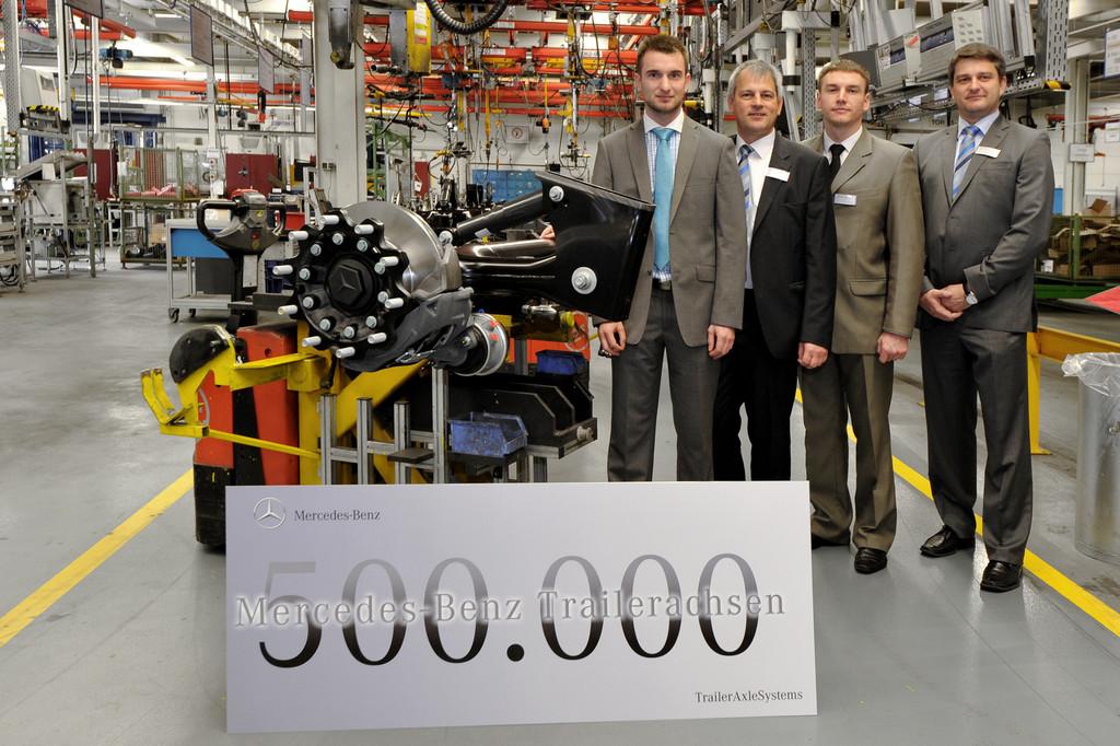 500 000ste Achse bei Mercedes-Benz Trailer-Axle Systems vom Band gelaufen