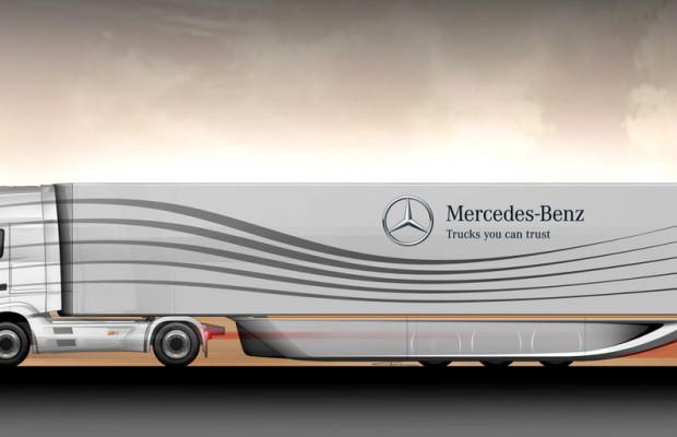 Aero-Trailer von Mercedes-Benz senkt Kraftstoffverbrauch von Sattelzügen