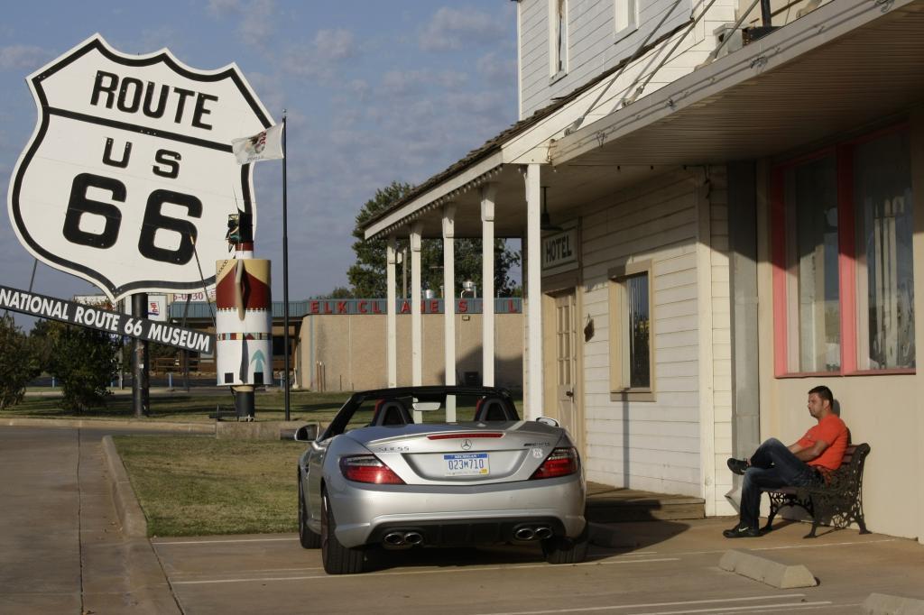 Am Rande der Route 66 lebt es sich ganz gut von der Legende