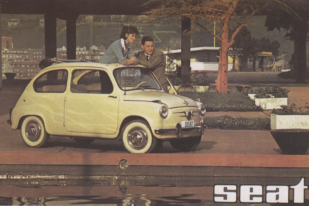 Auch der Seat 600 war in echt ein Fiat