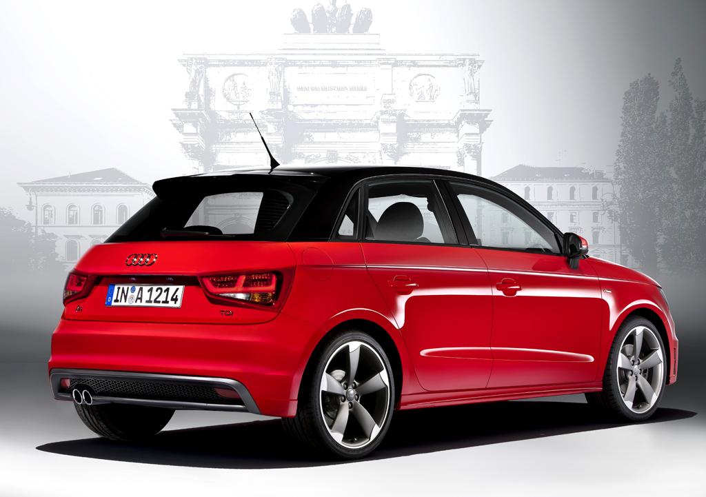 Audi A1 Sportback: Blick auf die Heckpartie.