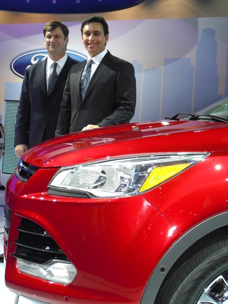 Bei der Präsentation: Fords US-Chef Fields (rechts) und Marketing-Mann Farley.