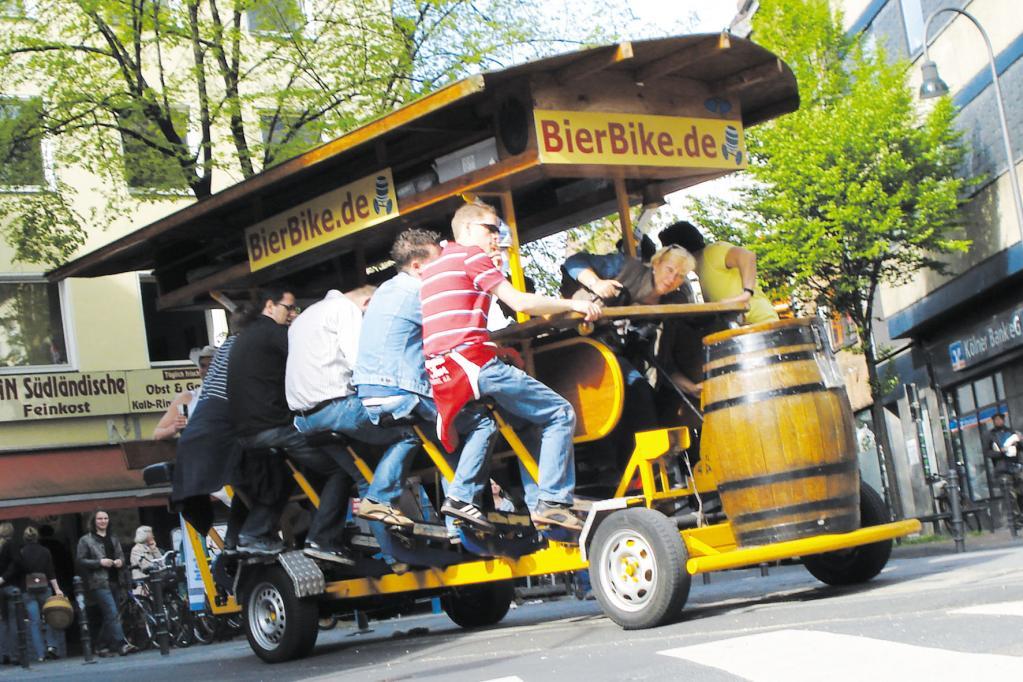 Bier-Bikes: Trinken und Trampeln nur mit Sondergenehmigung