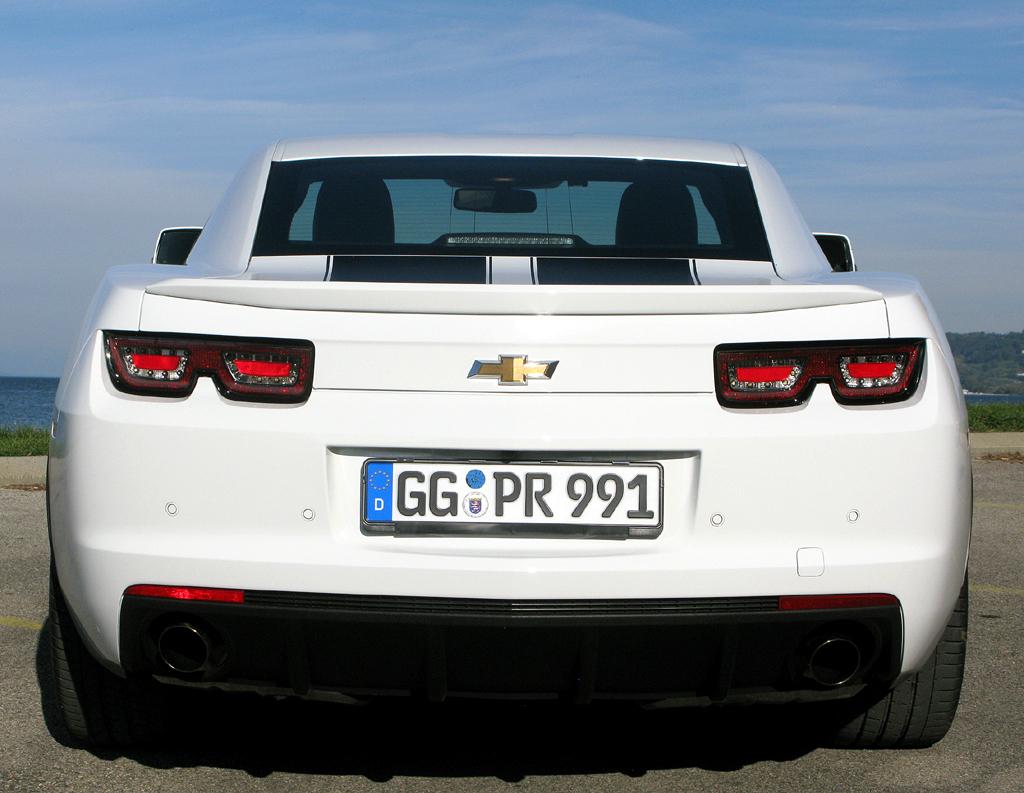 Chevrolet Camaro: Am Heck ist eine gewisse Corvette-Ähnlichkeit vorhanden.