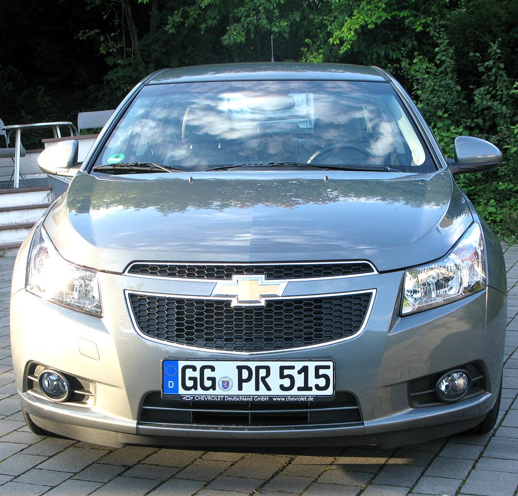 Chevrolet Cruze: Blick auf die Frontpartie des Fünfsitzers.