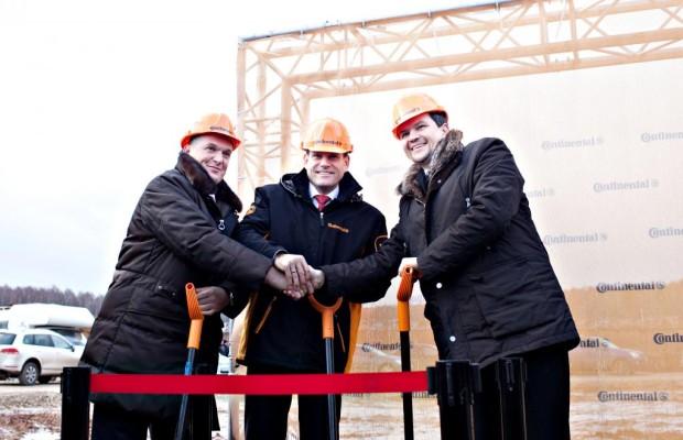 Conti legt Grundstein für neue Reifenfabrik in Russland