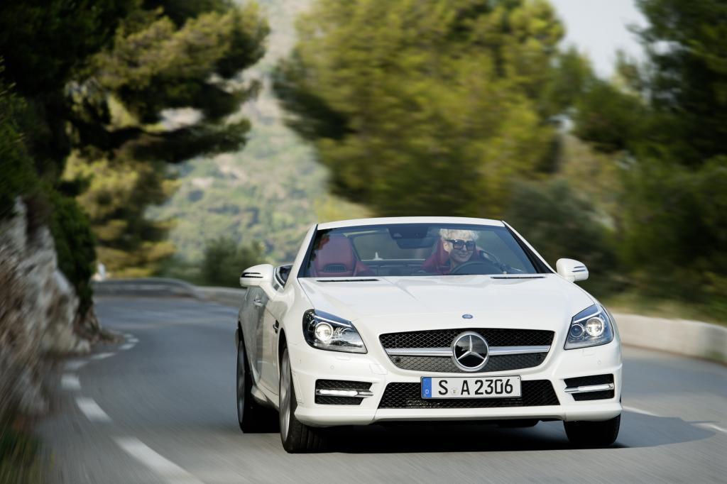 Den Mercedes SLK gibt es nun auch mit Dieselmotor