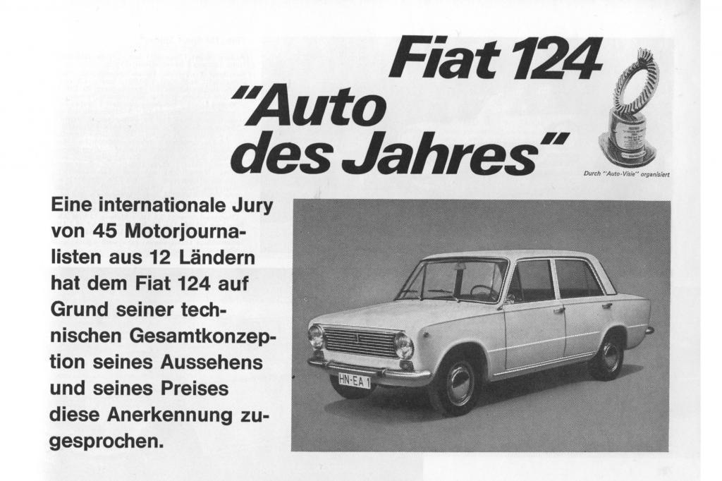Der Fiat 124 brachte es zum Titel Auto des Jahres