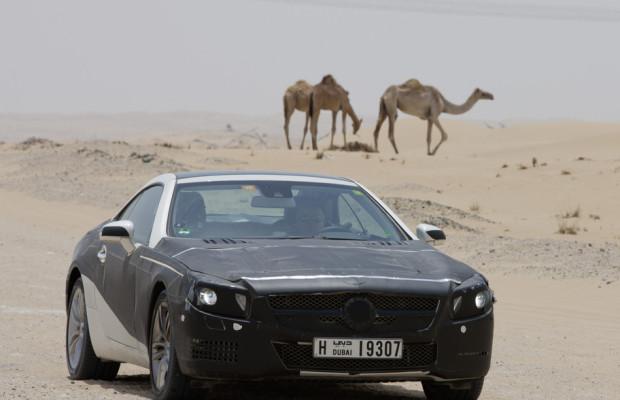 Der Mercedes-Benz SL kommt in Detroit: Mittelstürmer