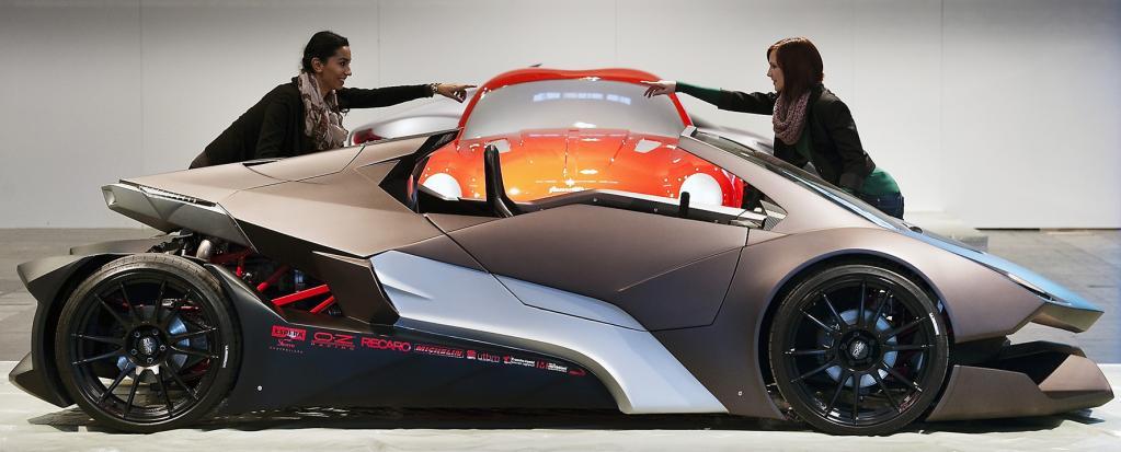 Der Sbarro Evoluzione überrascht auf der Essen Motor Show mit einem völlig eigenständigen Designkonzept.