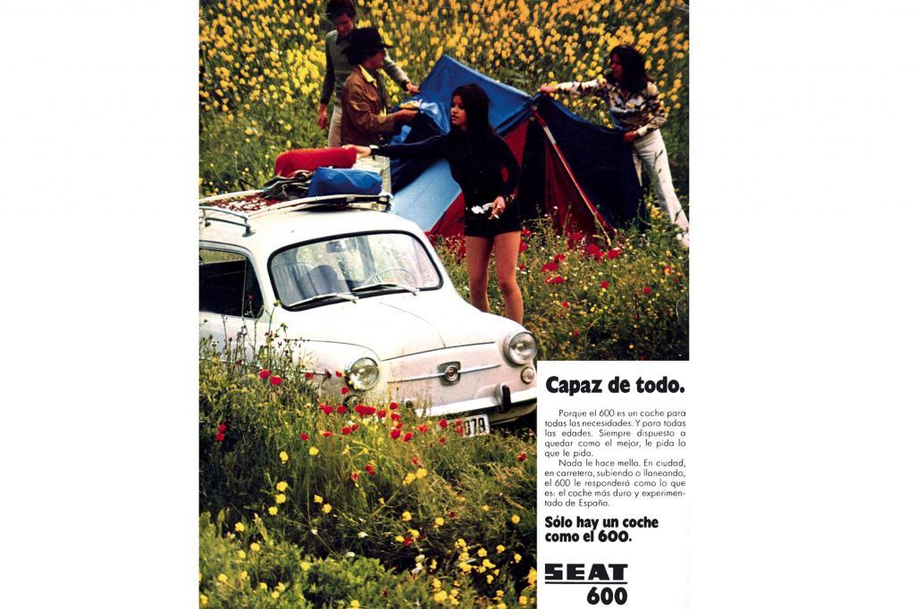 Der Seat 600 in der zeitgenössischen Werbung