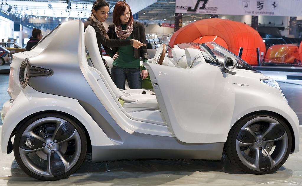 Der Smart Forspeed ist eine Elektroversion des ultrakompakten Wagens.