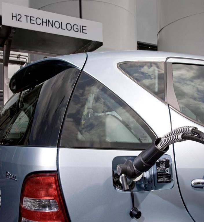 Eine Wasserstofftankstation kostet eine Million Euro