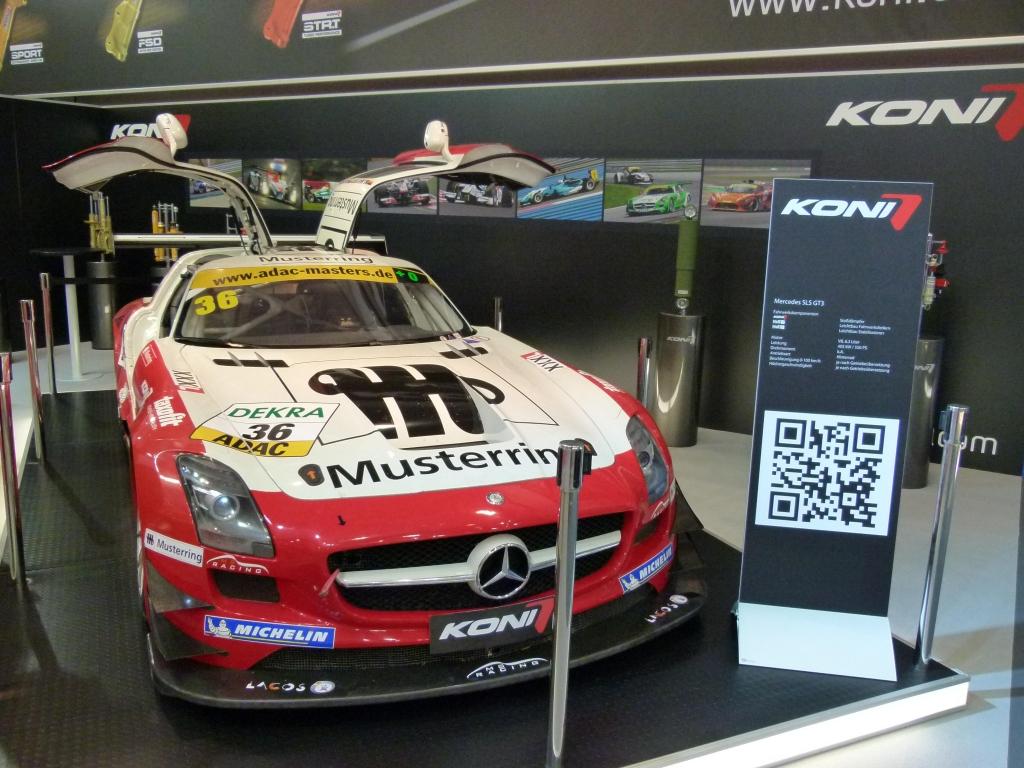 Essen Motor Show 2011: Mercedes-Benz SLS AMG GT3 – Flügelmonster mit Koni-Dämpfern