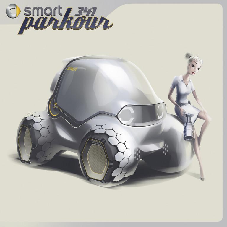 Für die Los Angeles Design Challenge 2011 sind die Mercedes-Benz-Designer unter die Drehbuchautoren gegangen: Smart 341 Parkour.