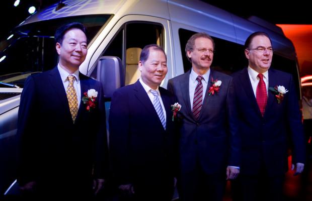 In China rollte der erste Sprinter vom Band