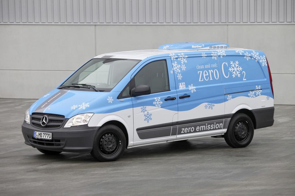 Kerstner baut den elektrisch angetriebenen Mercedes-Benz Vito E-Cell aus.