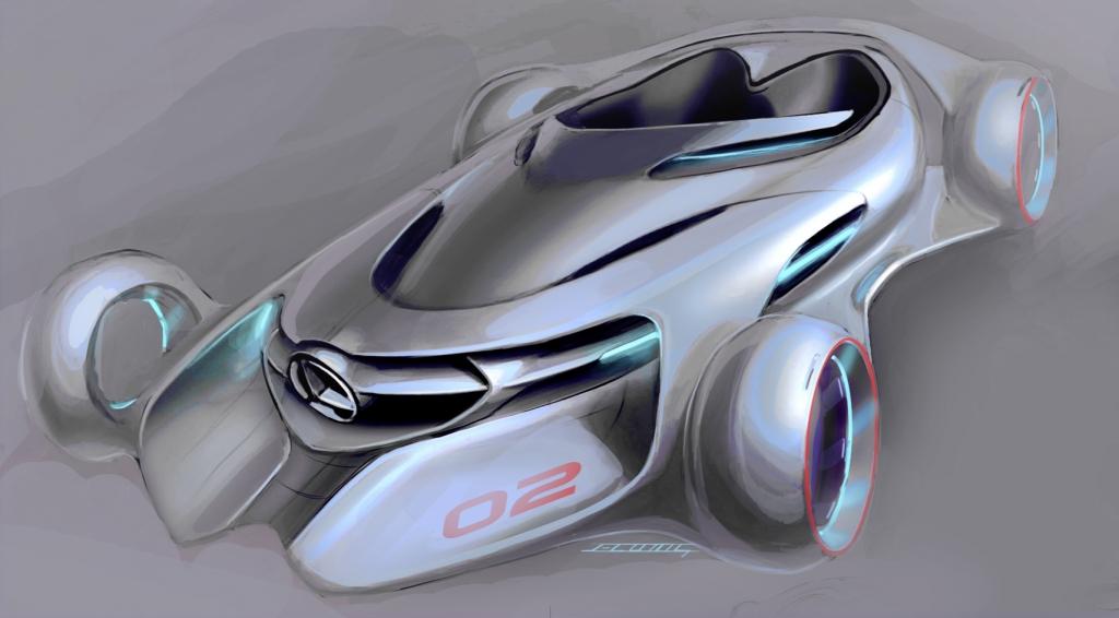 Mercedes-Benz designt  drei Autos für Hollywoodfilme