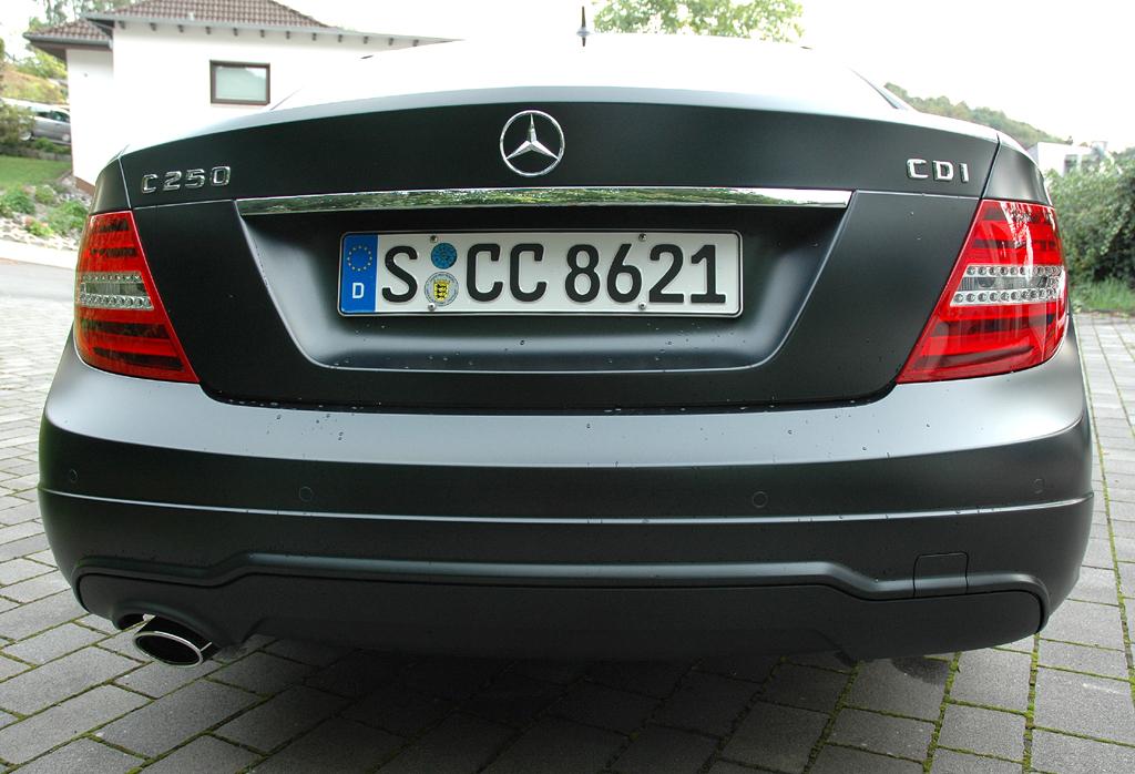 Mercedes C250 CDI Coupé: Blick auf die Heckpartie.