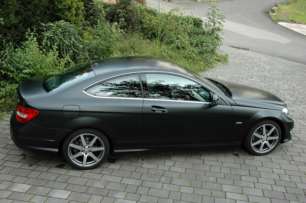 Mercedes C250 CDI Coupé: Und so sieht der Zweitürer (mit Sonderlack) von der Seite aus.