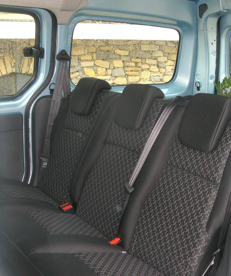 Renault Kangoo ZE: Blick auf die hintere Sitzreihe.