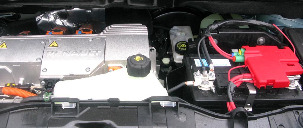 Renault Kangoo ZE: Blick unter die Haube.
