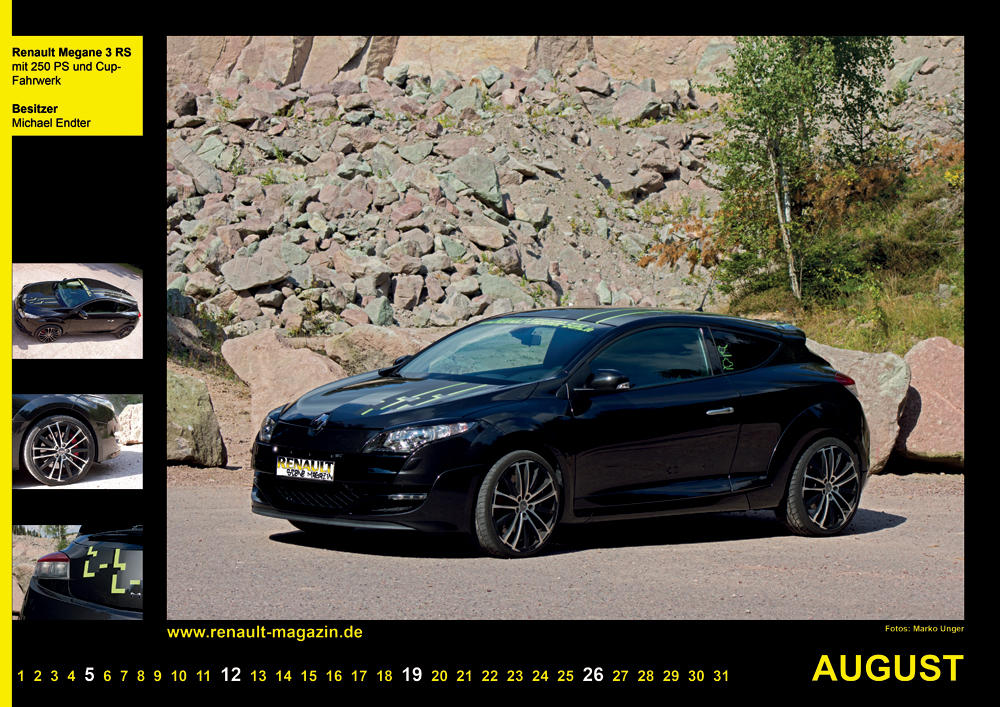 Renault-Scene-Magazin Kalender 2012