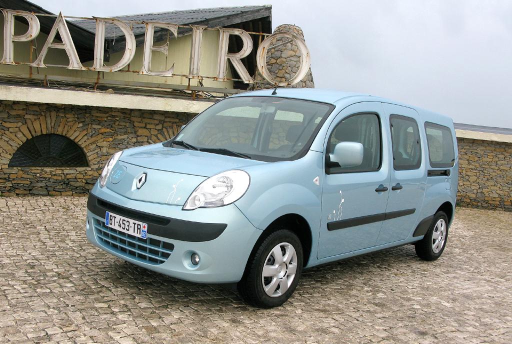 Renaults Kangoo ZE, hier als Maxis, ist der erste Serienstromer der Franzosen.