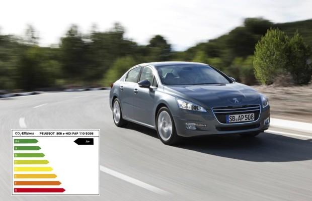 Sieben Peugeot-Modelle mit A+-Wertung