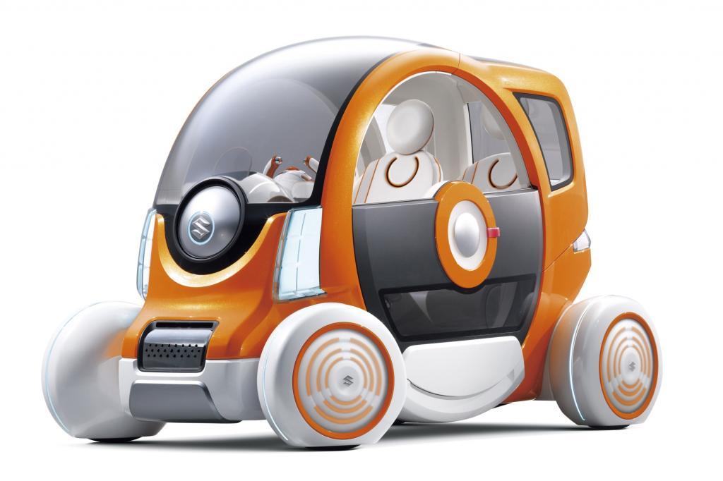 Suzuki zeigt auch eine Studie eines futuristischen Stadtautos