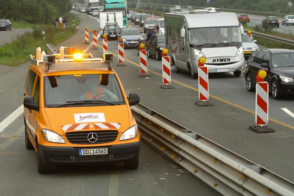 Unfälle in Autobahnbaustellen nehmen zu