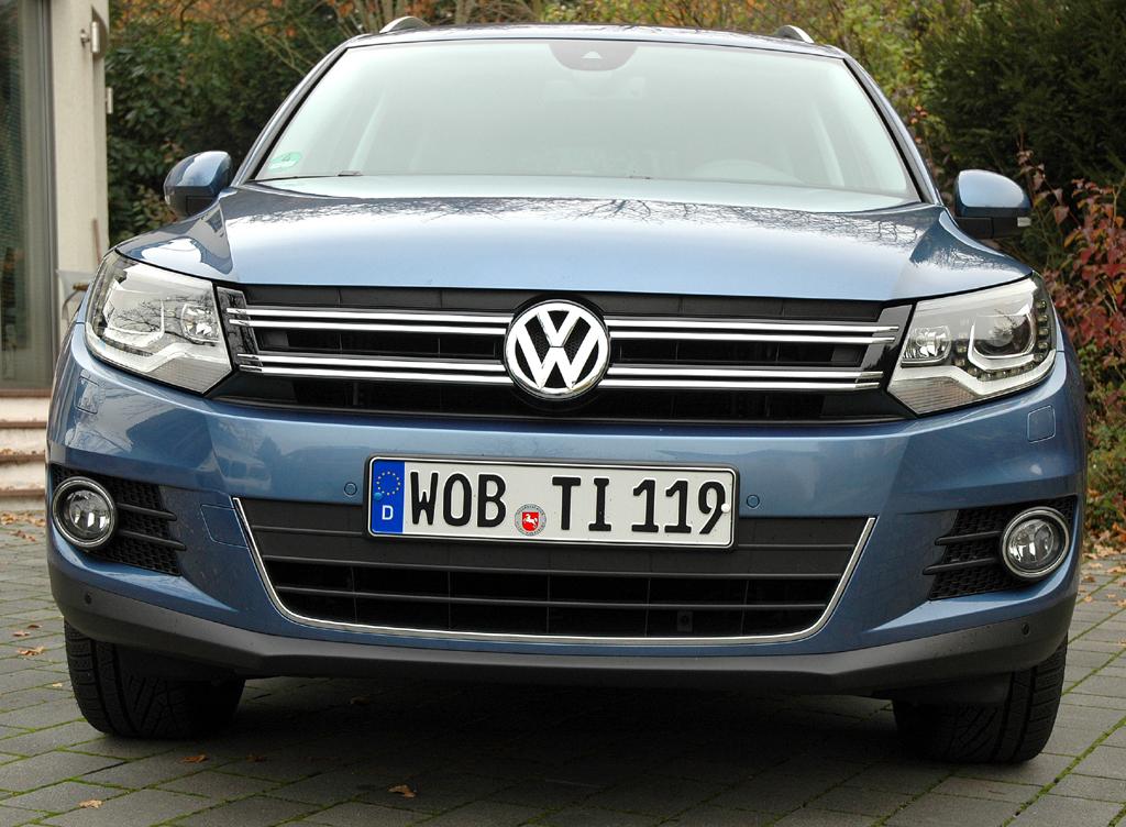 VW Tiguan: Blick auf die Frontpartie.