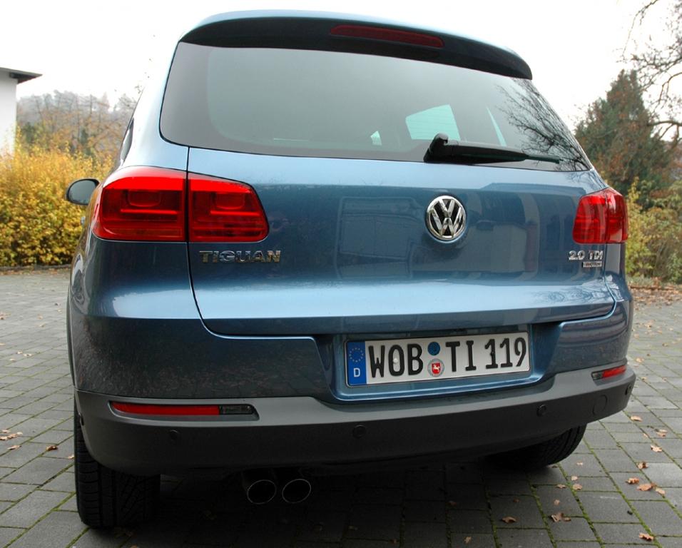 VW Tiguan: Blick auf die Heckpartie.