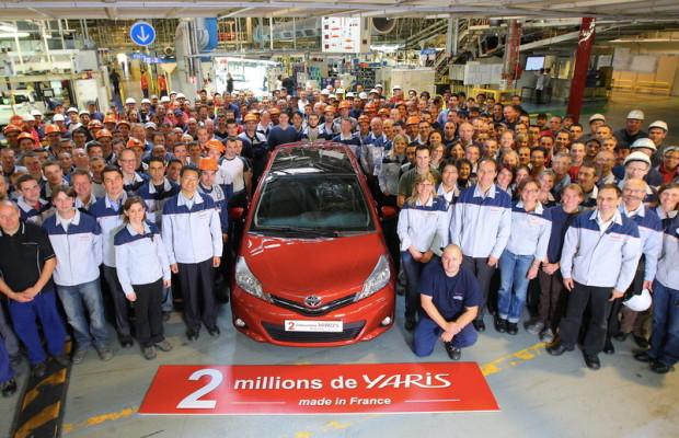 Zwei Millionen Yaris aus Frankreich