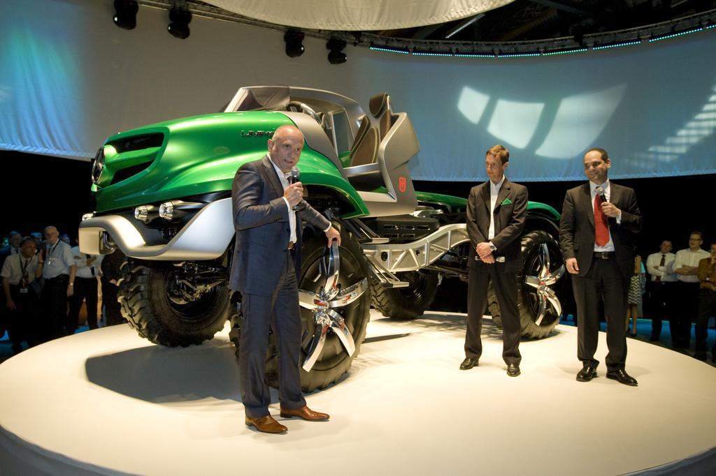 """""""60 Jahre Mercedes-Benz Unimog"""": Designstudie."""