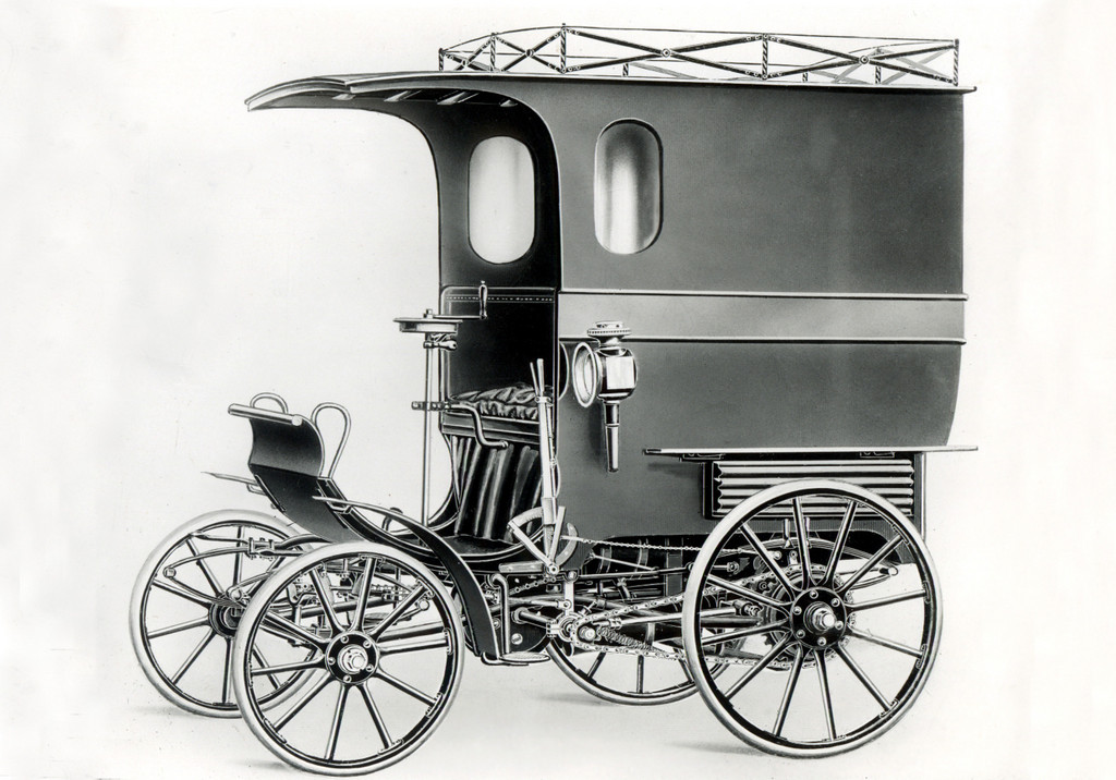 150 Jahre Opel: Das erste Nutzfahrzeug von Opel auf Basis des Patent-Motorwagens. Im Volksmund auch