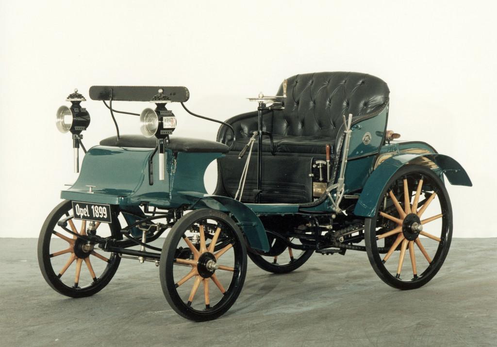 150 Jahre Opel: Erster Opel: Der Patent Motorwagen System Lutzmann,1899.