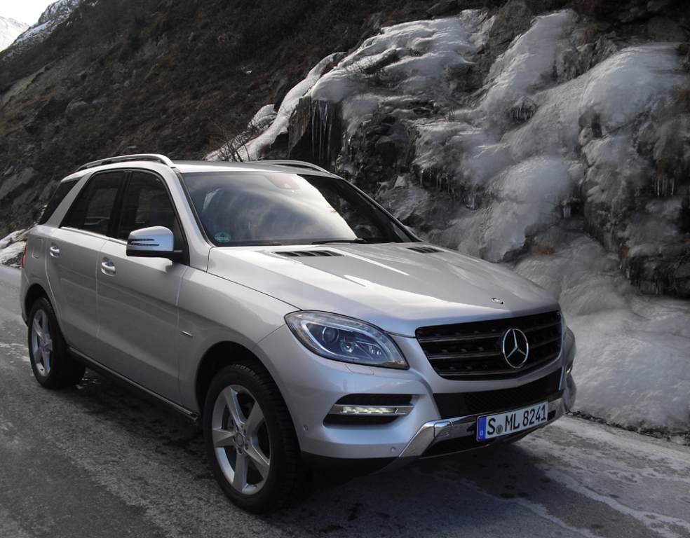 4Matic serienmäßig: Mercedes-M-Klasse auf Timmelsjoch-Hochalpenstraße. Fotos: Koch