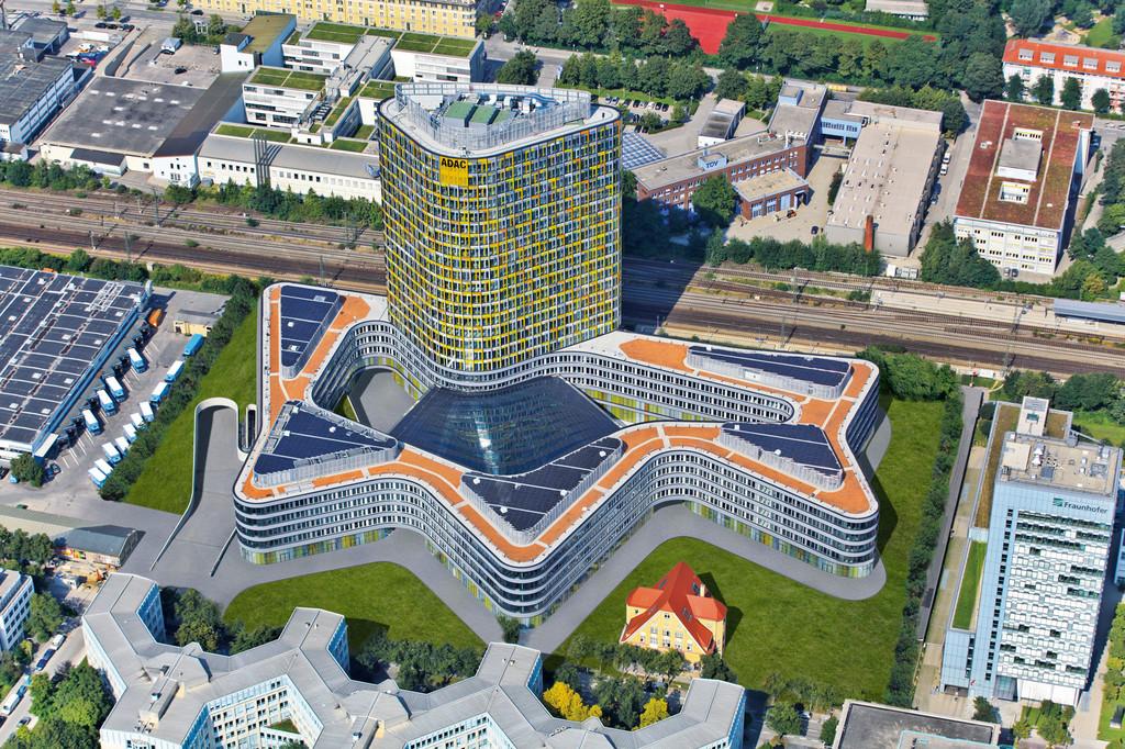 ADAC-Neubau in München.