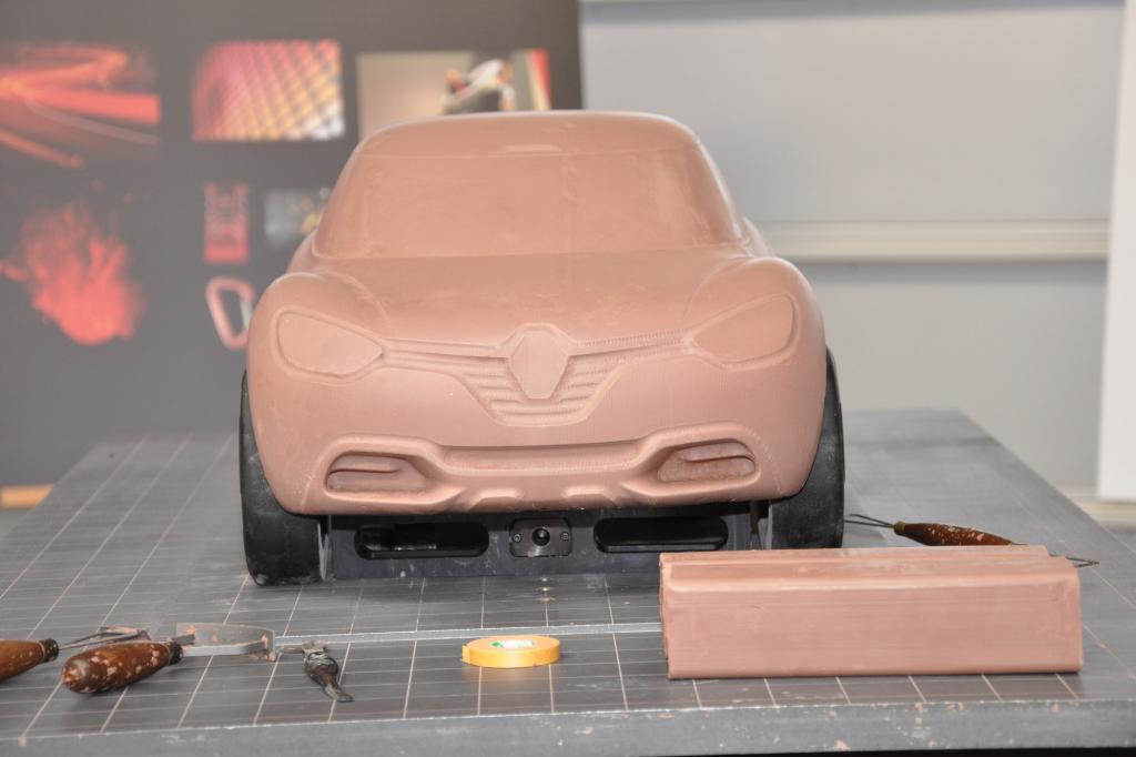 Auch dieses Konzeptfahrzeug entstand zuerst als Modell
