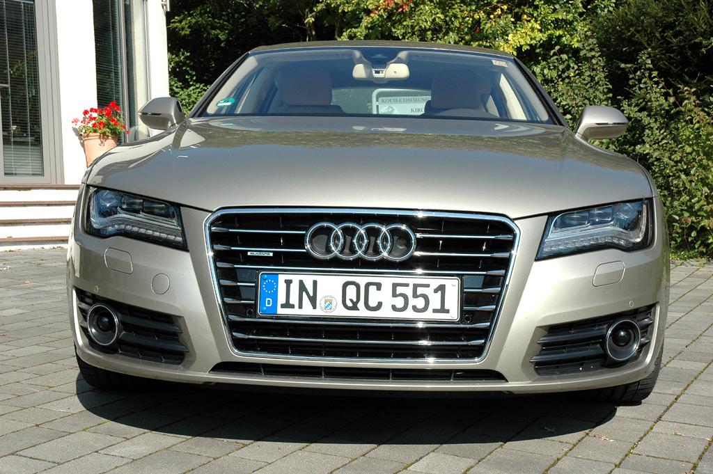 Audi A7 Sportback: Blick auf die Frontpartie.