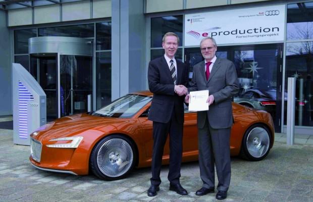 Audi erforscht Fertigung von elektrischen Energiespeichern