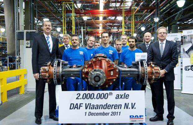Belgisches DAF-Werk produziert zweimillionste Achse
