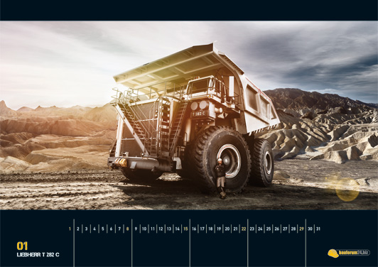 Gigantische Monster - der Baumaschinen-Kalender 2012
