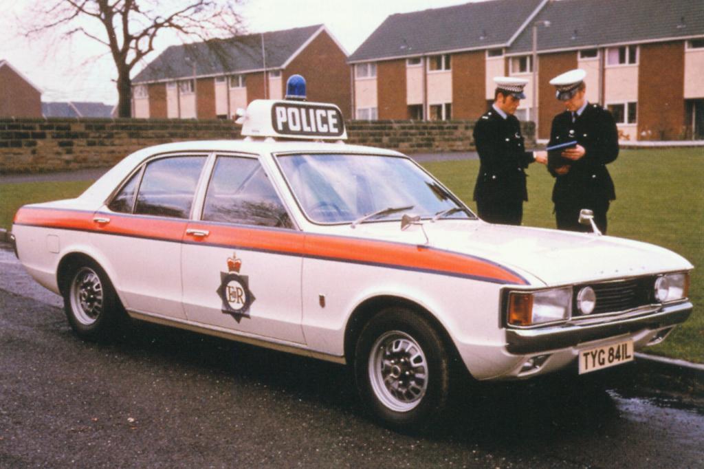 In England war der Consul als Polizeiauto im Einsatz