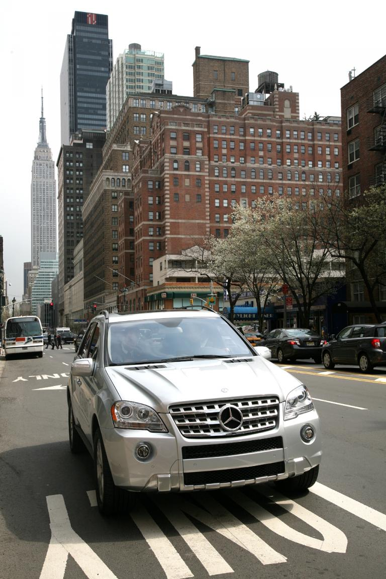 Mercedes-Hybrid-M-Klasse in New York: Den US-Absatz nennen Experten robust.