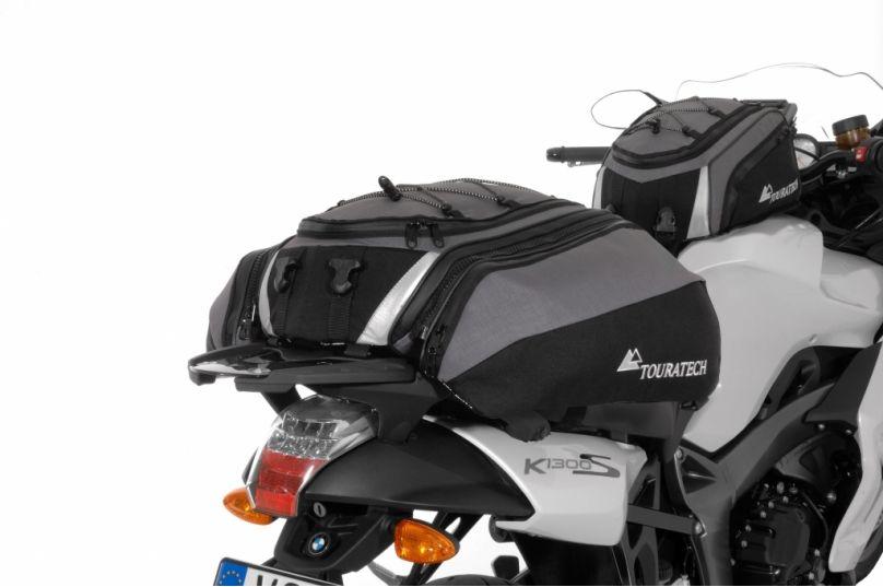 Motorrad Messe Leipzig 2012: Touratech Travel Bag mit Ad Bag als Tankrucksack