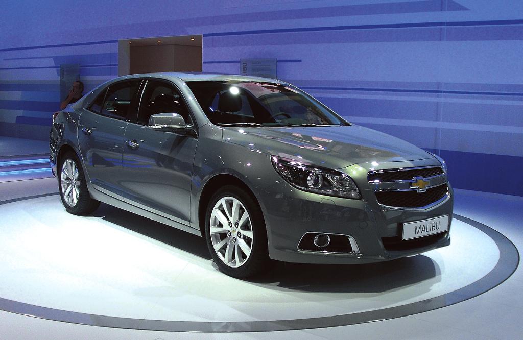 Neu 2012 bei Chevrolet: Malibu, hier bei der IAA 2011 in Frankfurt/Main.