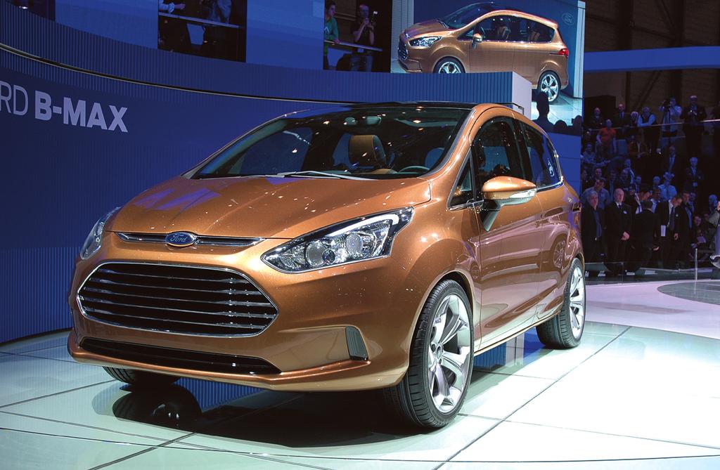 Neu 2012 bei Ford: B-Max, hier beim Genfer Salon 2011. Fotos: Koch