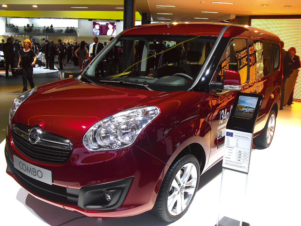 Neu 2012 bei Opel: Combo, hier bei der IAA 2012 in Frabkfurt/Main.